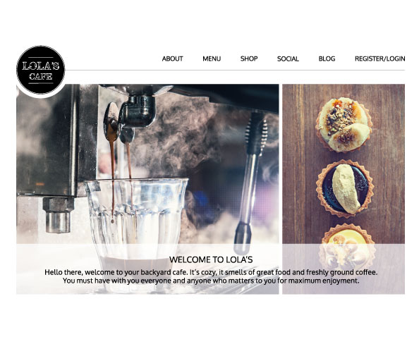 TheWonderMuse, Marketing, Graphic Design, E-commerce - Lola's Cafe